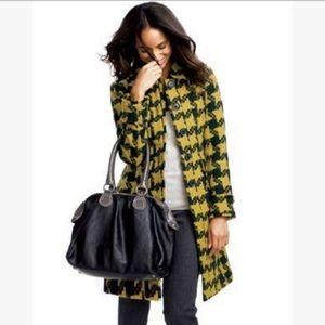 BODEN | sz 2 mustard/gray Houndstooth coat